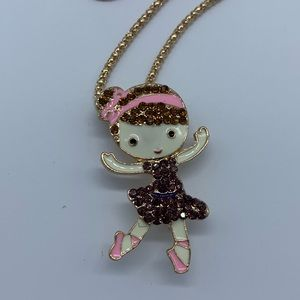New fashion dancing ballerina necklace or brooch